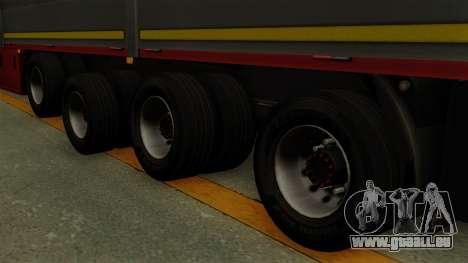 Flatbed3 Red pour GTA San Andreas sur la vue arrière gauche