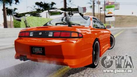 Nissan Silvia S14 (240SX) Fast and Furious pour GTA San Andreas laissé vue