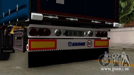 Trailer Krone Profiliner v2 pour GTA San Andreas vue de droite