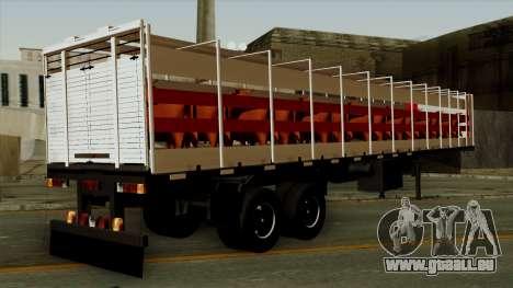 Trailer Cows für GTA San Andreas linke Ansicht