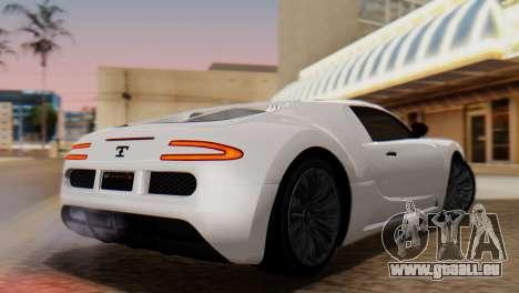 GTA 5 Adder Tire Dirt für GTA San Andreas linke Ansicht