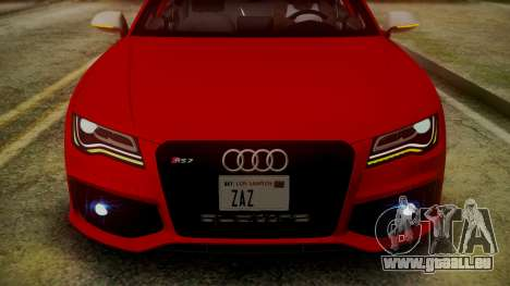 Audi RS7 2014 pour GTA San Andreas vue de dessous