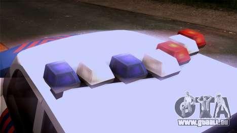 Indonesian Police Type 2 pour GTA San Andreas vue arrière