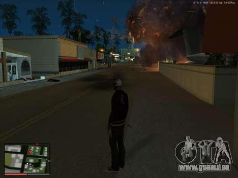 La folie dans l'état de San Andreas. La bêta. pour GTA San Andreas deuxième écran