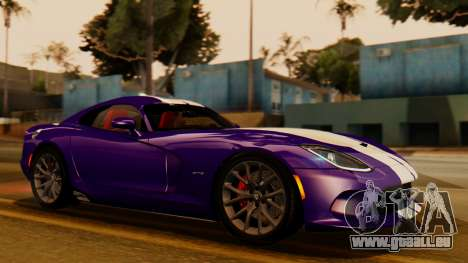 Dodge Viper SRT GTS 2013 IVF (HQ PJ) HQ Dirt pour GTA San Andreas