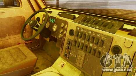 MRAP Cougar from CoD Black Ops 2 für GTA San Andreas rechten Ansicht
