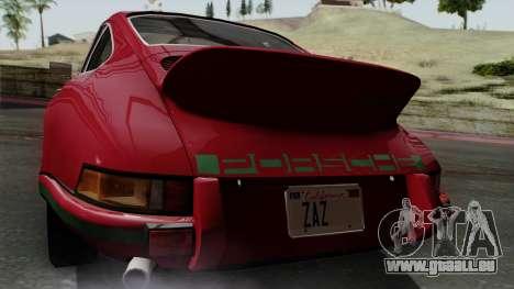Porsche 911 Carrera RS 2.7 Sport (911) 1972 IVF für GTA San Andreas Rückansicht