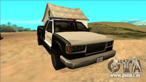 New Yosemite Police v2 für GTA San Andreas Rückansicht