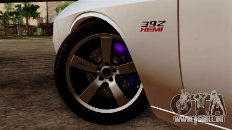 Dodge Challenger SRT8 392 2012 Stock Version 1.0 pour GTA San Andreas sur la vue arrière gauche