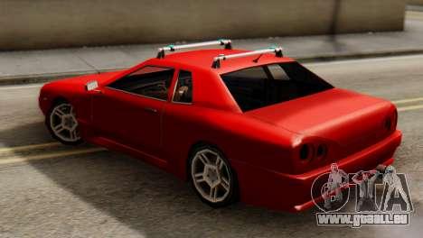 Elegy Korch Stock Wheel pour GTA San Andreas sur la vue arrière gauche