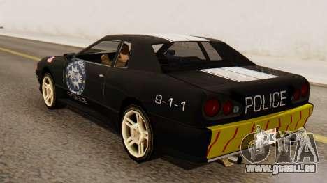 Elegy Police Edition pour GTA San Andreas laissé vue