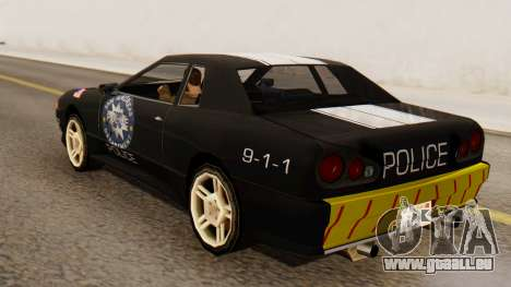 Elegy Police Edition für GTA San Andreas linke Ansicht