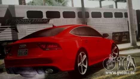 Audi RS7 2014 pour GTA San Andreas laissé vue