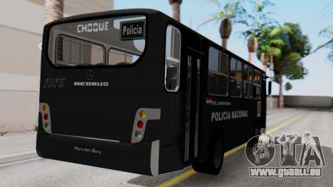 Mercedes-Benz Neobus Paraguay National Police für GTA San Andreas linke Ansicht