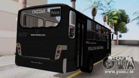 Mercedes-Benz Neobus Paraguay National Police pour GTA San Andreas laissé vue
