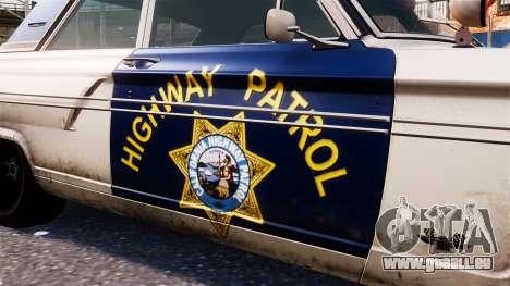 Ford Fairlane 1964 Police pour GTA 4 Vue arrière