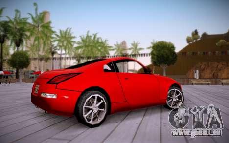 Nissan 350Z SA Style pour GTA San Andreas sur la vue arrière gauche