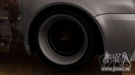 Volkswagen Golf R32 JDM Itasha pour GTA San Andreas sur la vue arrière gauche