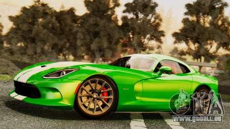 Dodge Viper SRT GTS 2013 IVF (MQ PJ) HQ Dirt pour GTA San Andreas roue
