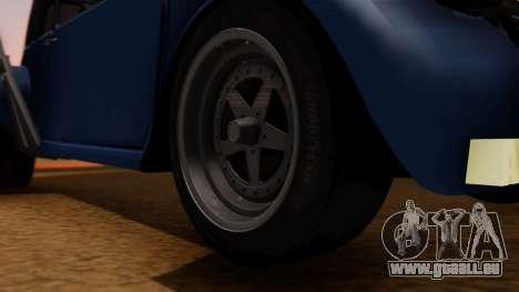 Citroen 2CV (jian) Drag Style Edition pour GTA San Andreas sur la vue arrière gauche