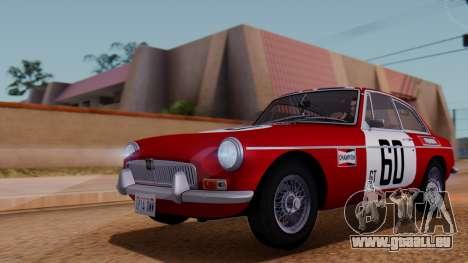 MGB GT (ADO23) 1965 HQLM für GTA San Andreas obere Ansicht