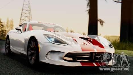 Dodge Viper SRT GTS 2013 IVF (MQ PJ) HQ Dirt pour GTA San Andreas vue de droite