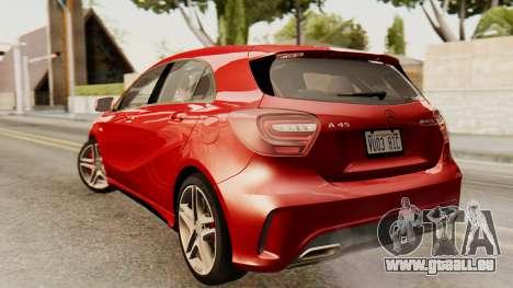 Mercedes-Benz A45 AMG 2012 pour GTA San Andreas laissé vue