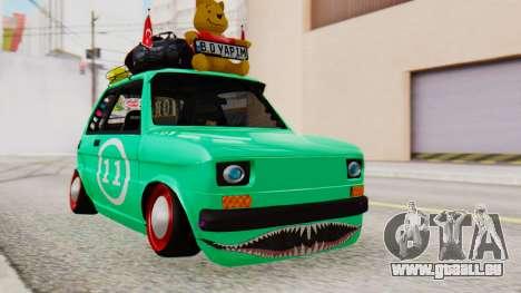 Fiat 126 bis B. O. de la Construction pour GTA San Andreas