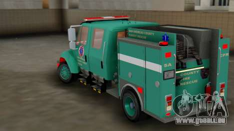 SACFR International Type 3 Rescue Engine pour GTA San Andreas sur la vue arrière gauche