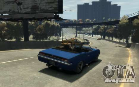 Declasse Vigero Cabrio für GTA 4 Rückansicht
