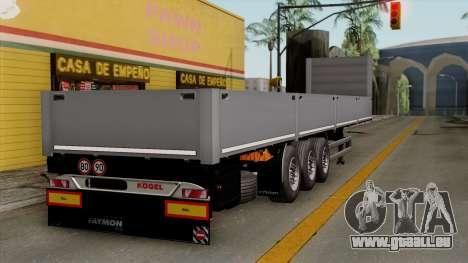Trailer Kogel pour GTA San Andreas laissé vue