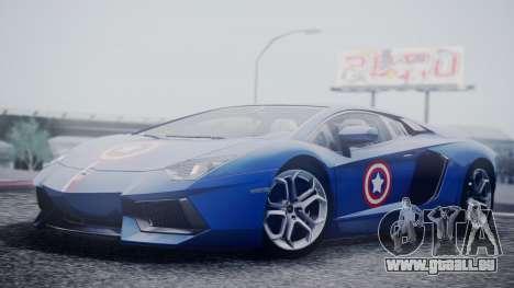 Lamborghini Aventador LP 700-4 Captain America pour GTA San Andreas vue de droite