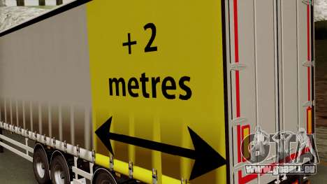 Trailer 15 meters für GTA San Andreas Rückansicht
