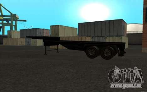Flat Trailer pour GTA San Andreas vue de droite