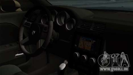 Dodge Challenger GT S pour GTA San Andreas sur la vue arrière gauche