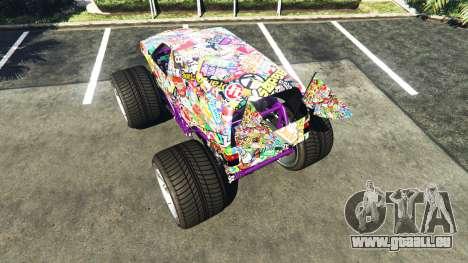 GTA 5 Vapid The Liberator Sticker Bomb v2.0f hinten links Seitenansicht