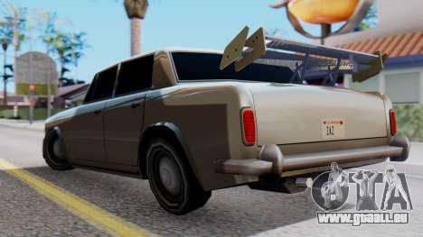 Stafford Tuning pour GTA San Andreas laissé vue