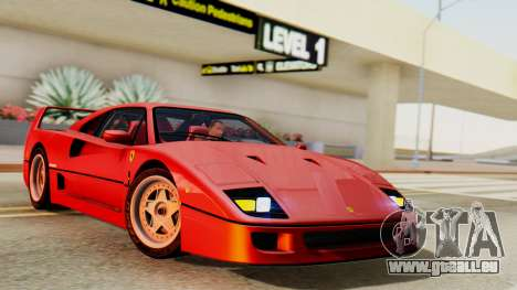 Ferrari F40 1987 with Up Lights pour GTA San Andreas