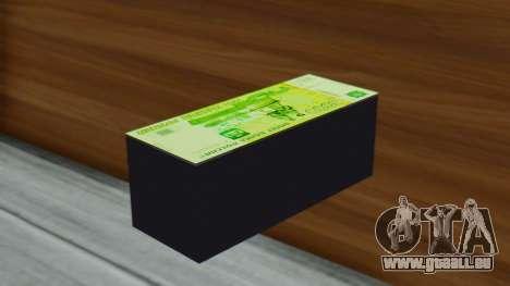 3000 Roubles pour GTA San Andreas deuxième écran