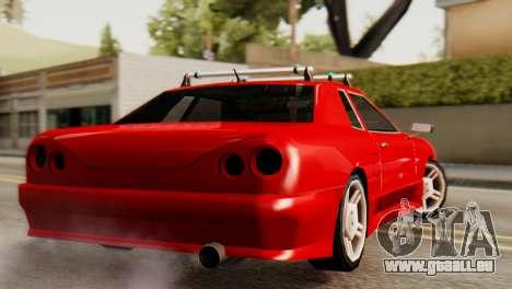 Elegy Korch Stock Wheel für GTA San Andreas linke Ansicht