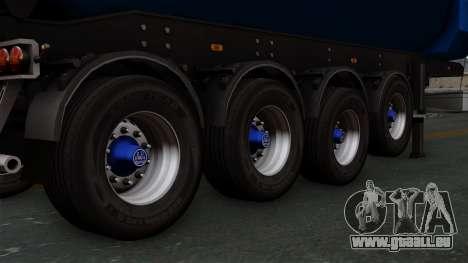 Trailer Tohap pour GTA San Andreas sur la vue arrière gauche