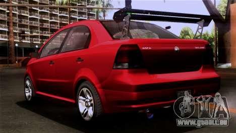 GTA 5 Declasse Asea für GTA San Andreas linke Ansicht
