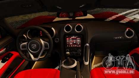 Dodge Viper SRT GTS 2013 IVF (MQ PJ) HQ Dirt für GTA San Andreas Seitenansicht