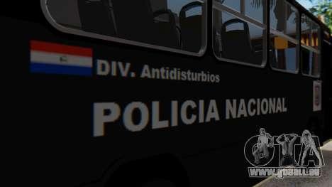 Mercedes-Benz Neobus Paraguay National Police pour GTA San Andreas vue intérieure