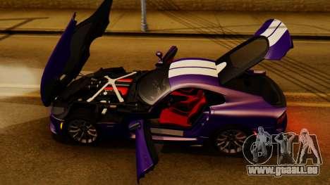 Dodge Viper SRT GTS 2013 IVF (HQ PJ) HQ Dirt für GTA San Andreas Innenansicht