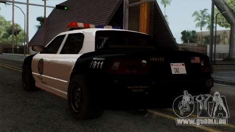 GTA 5 LS Police Car für GTA San Andreas linke Ansicht