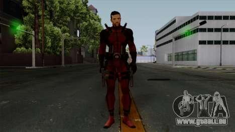 Deadpool without Mask pour GTA San Andreas deuxième écran