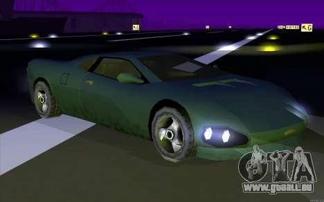 GTA 3 Infernus SA Style v2 pour GTA San Andreas sur la vue arrière gauche