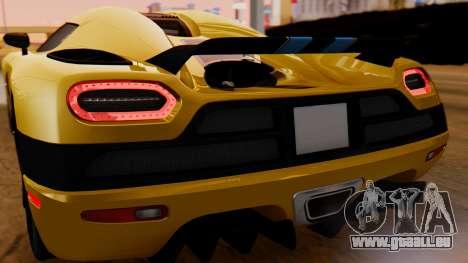 Koenigsegg Agera 2011 für GTA San Andreas Rückansicht