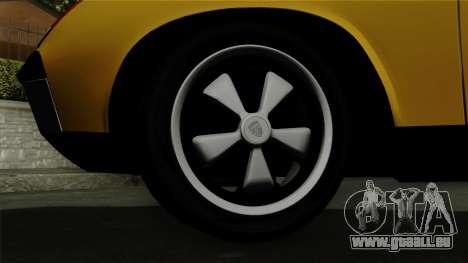 Porsche 914 1970 pour GTA San Andreas sur la vue arrière gauche